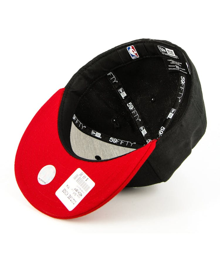 Chicago Bulls Fashion Fitted Black/red