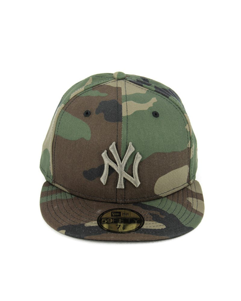 Yankees Fashion Fitted Camo/gold