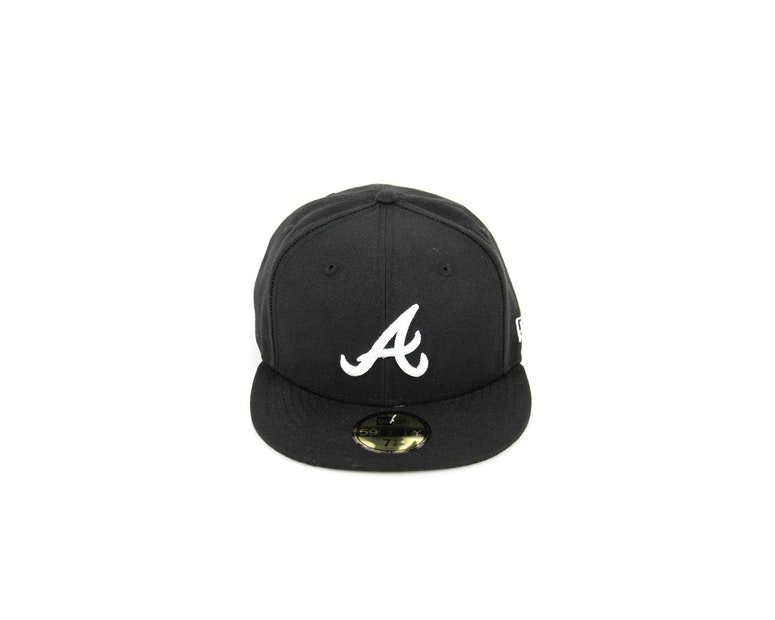 Atlanta Braves Fashion Fitted Black/white