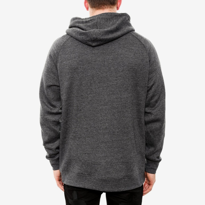Realest Hooded Pullover Charcoal/blue
