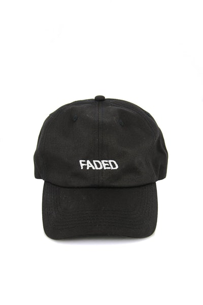 Faded Precurved Strapback Black/white