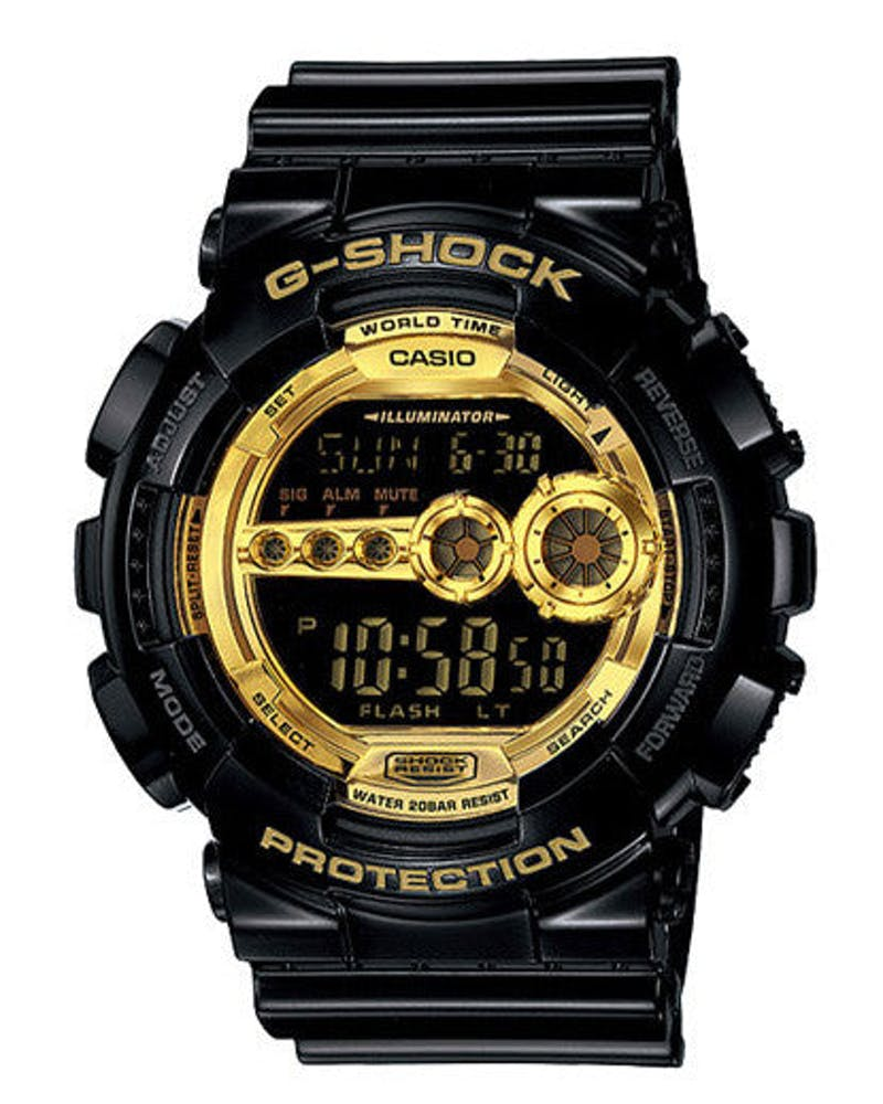 G-shock Digital Glossy Black/gold