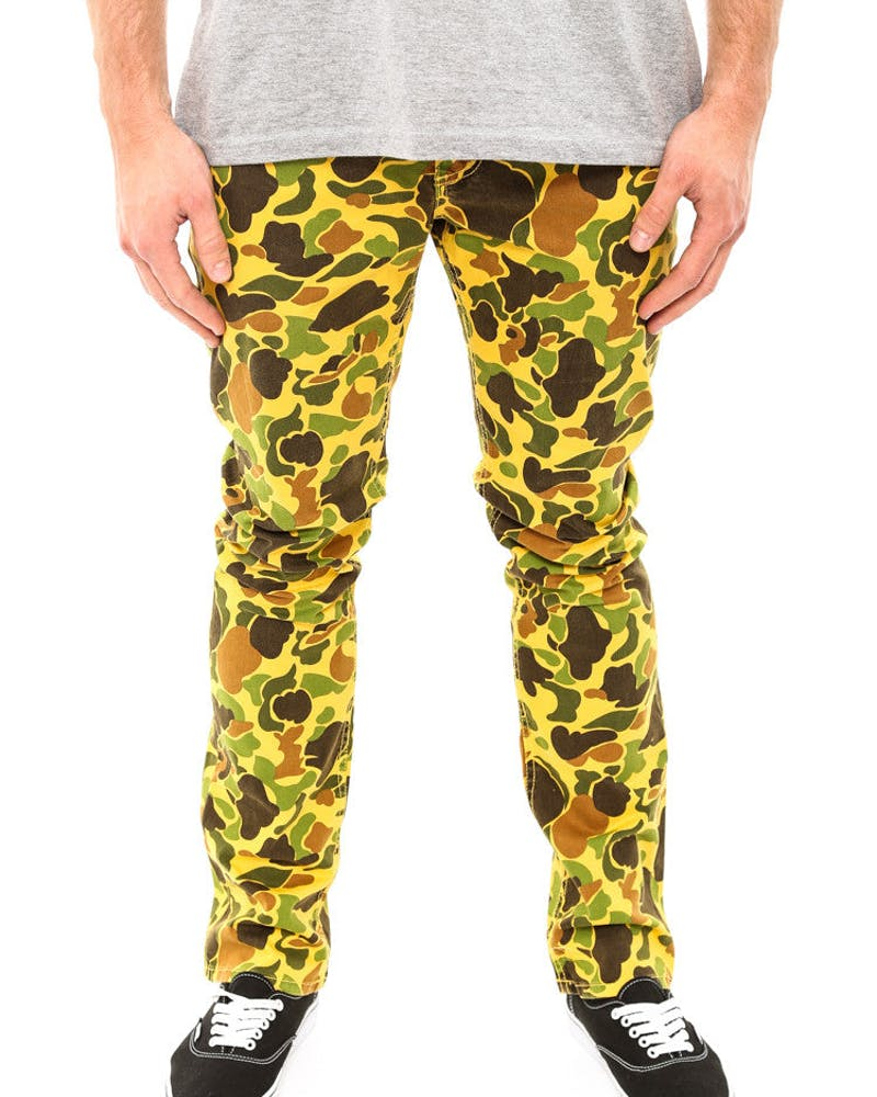 Camo Life 5pocket Pant Yellow/green Ca