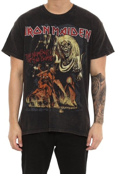 Iron Maiden No. of the Beast Black Vintage