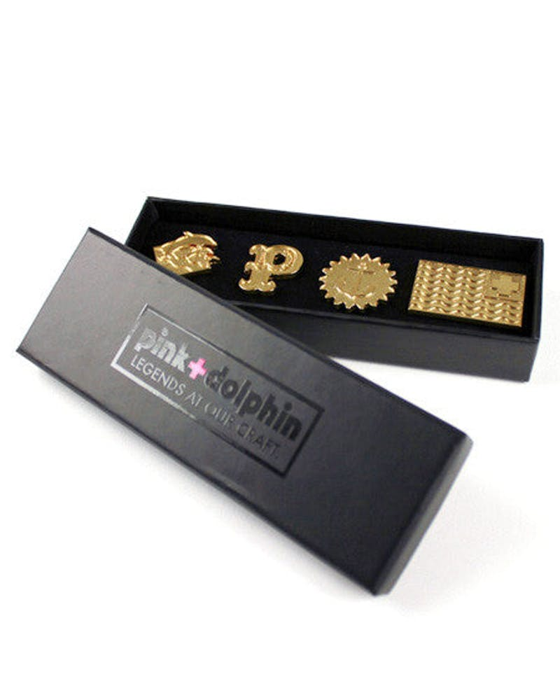 Gold Pin Set Gold