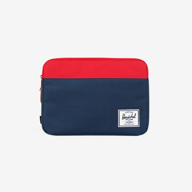Anchor Sleeve 15 Inch Macbook Navy/red