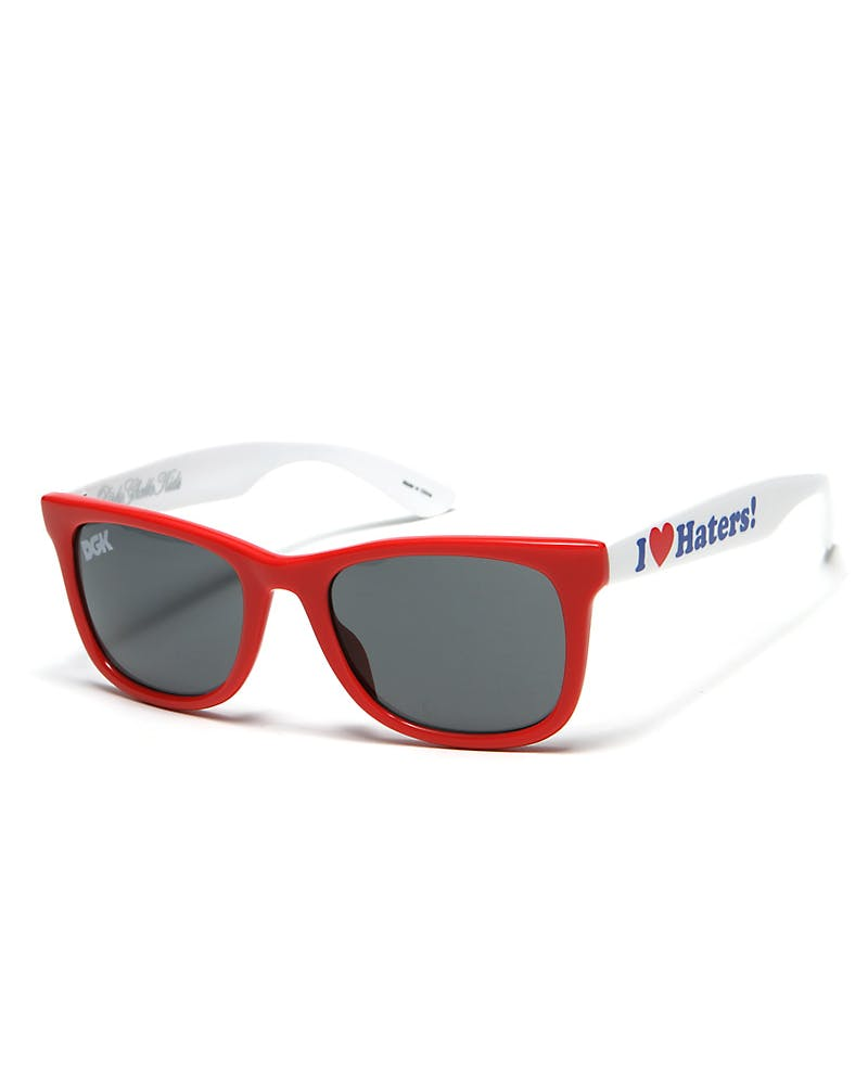 Haters Sunglasses Red/white
