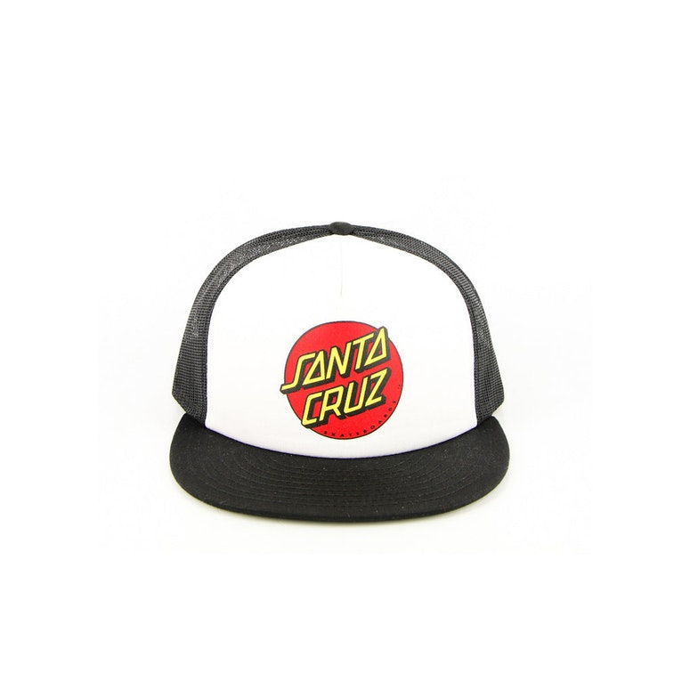 Classic Dot Trucker Hat Black/white