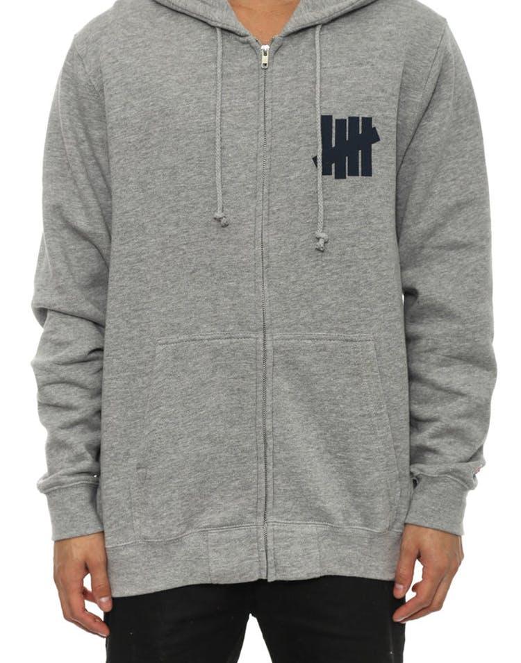 175c04d71aa Undefeated 5 Strike Printed Zip Hood Grey – Culture Kings