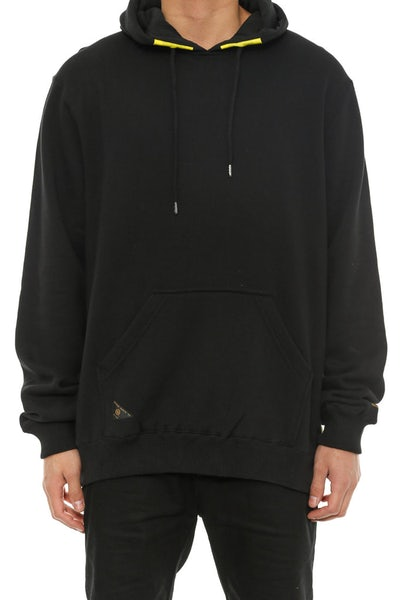 Red Tail Hoodie Black