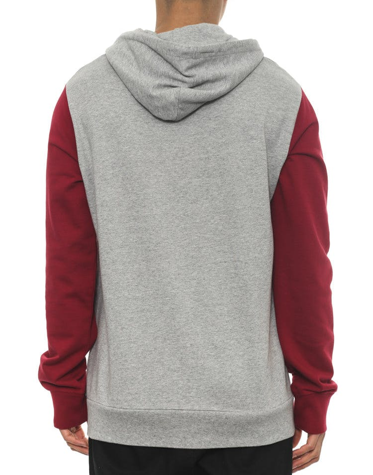 League Hood Grey/maroon/bla