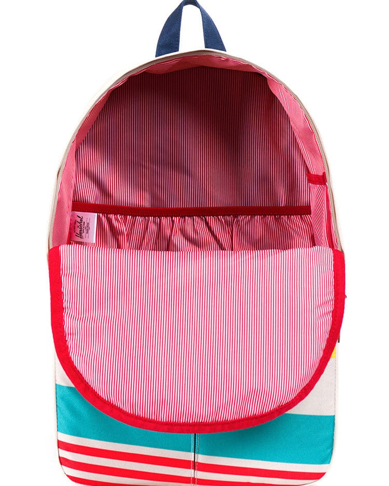 Parker Backpack White/red/yello
