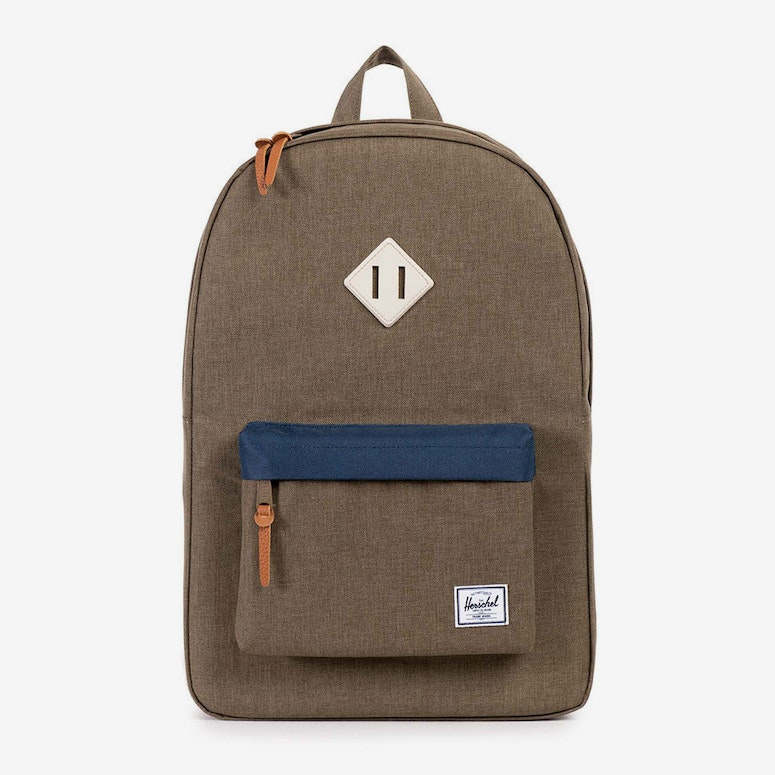 Heritage Rubber Backpack Brown/navy/natu