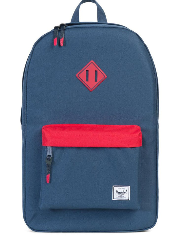 6bb48076c Herschel Bag CO Heritage Rubber Backpack Navy red navy – Culture Kings