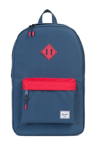 Heritage Rubber Backpack Navy/red/navy