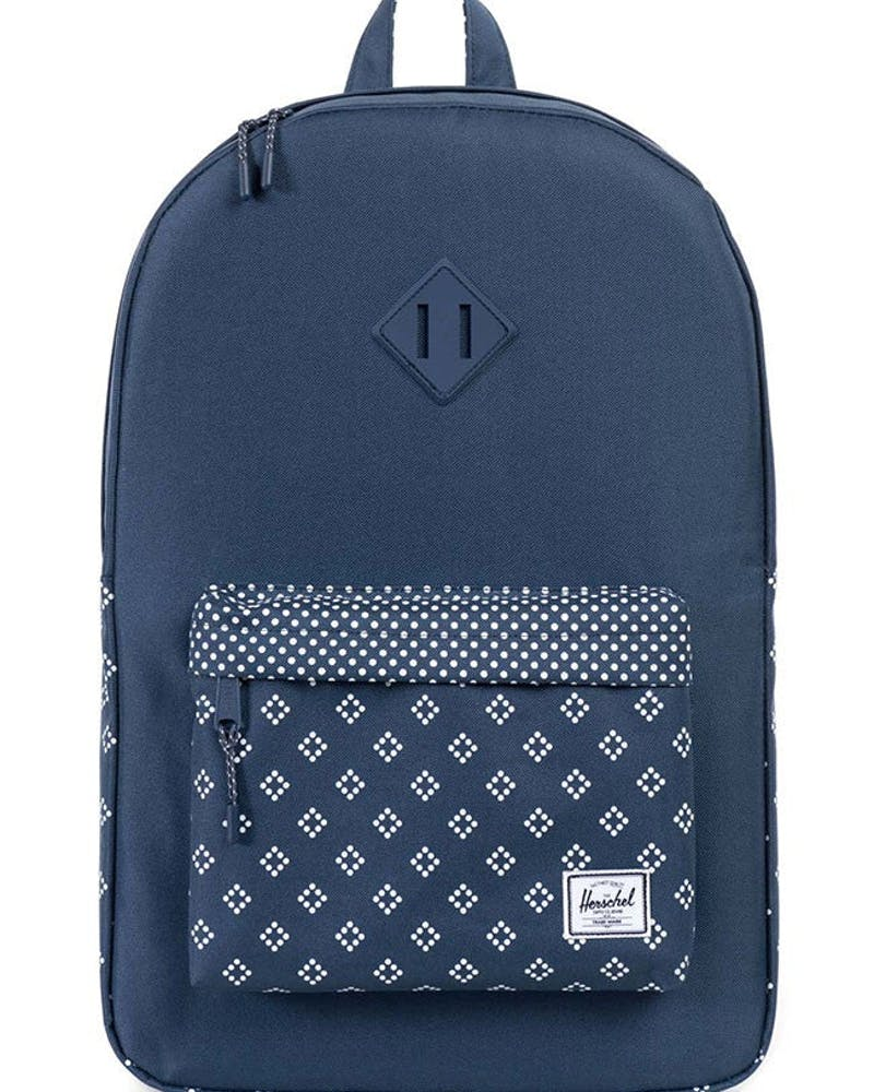 Heritage Rubber Backpack Navy/white