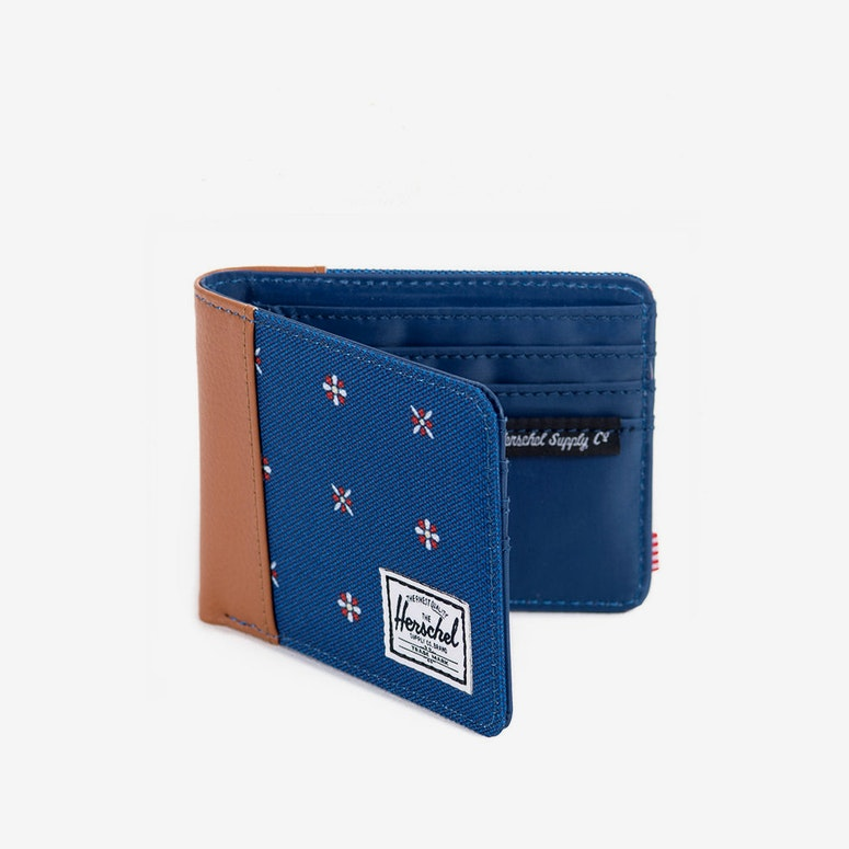 Edward Wallet Blue/tan