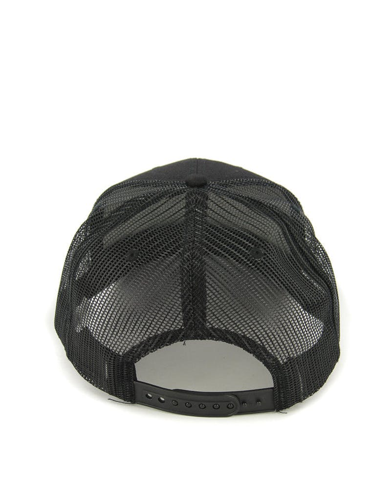 Clipped Pre Curved Trucker Black/black