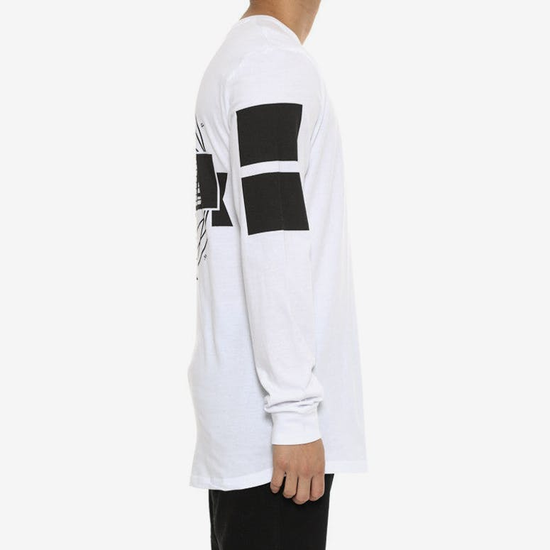 Conquer Long Sleeve Tee White