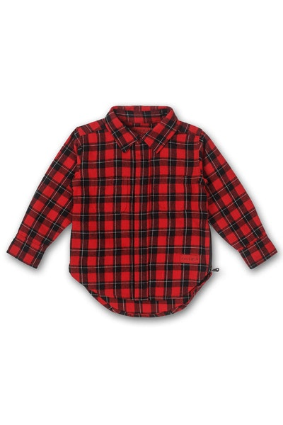 Maddox Two Button up Red