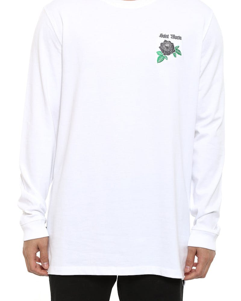 Rose of Death Long Sleeve Tee White