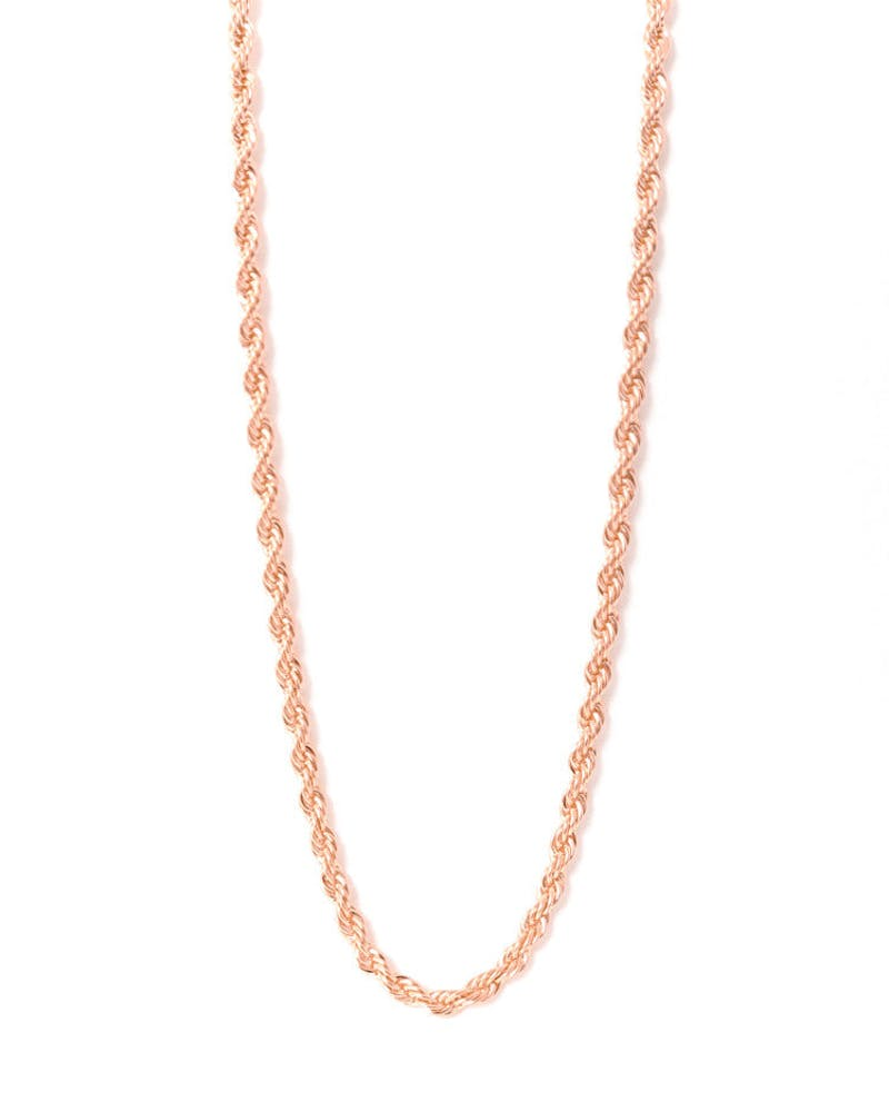 Rope Chain Rose Gold