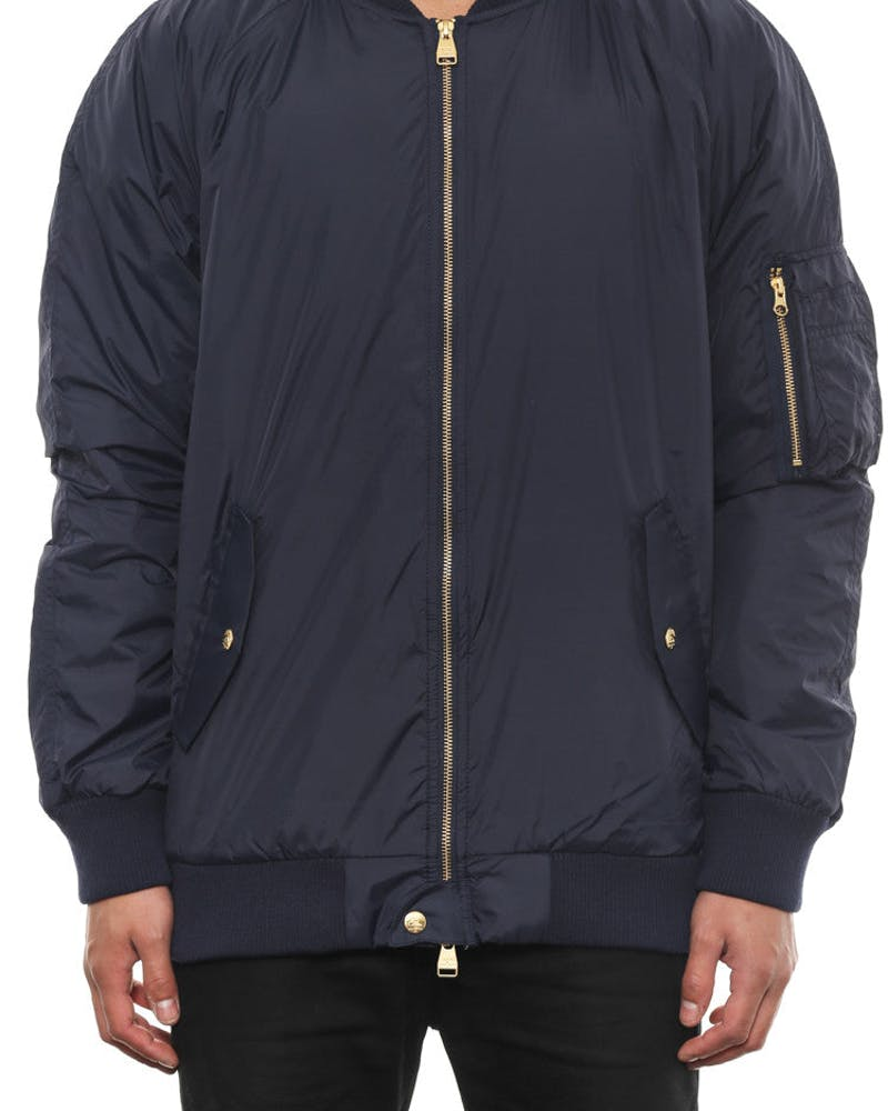 Faction Bomber Jacket Navy