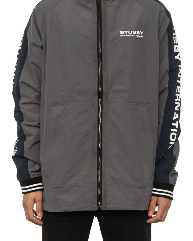 Stussy Tribe Spray Jacket II Charcoal