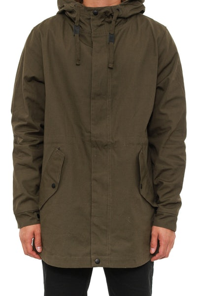 Curbside Anorak Jacket Army Green