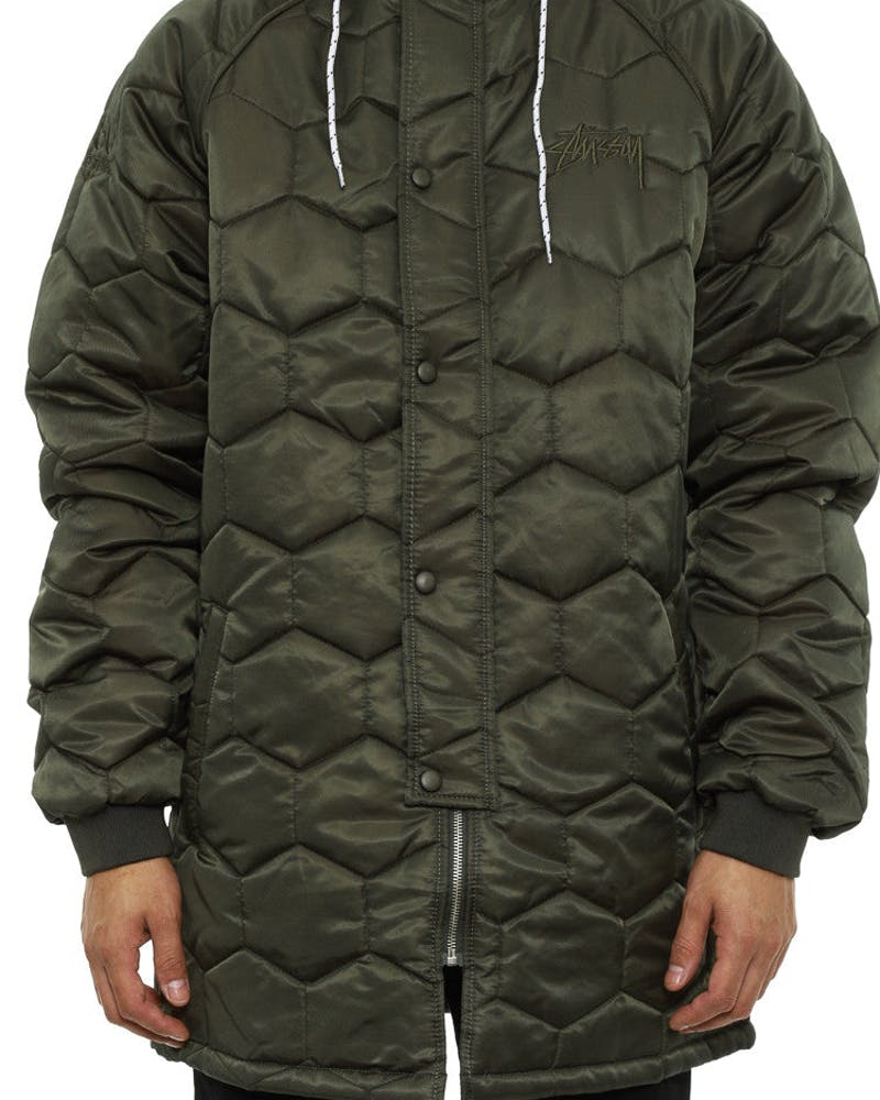 Tile Quilted Jacket Military