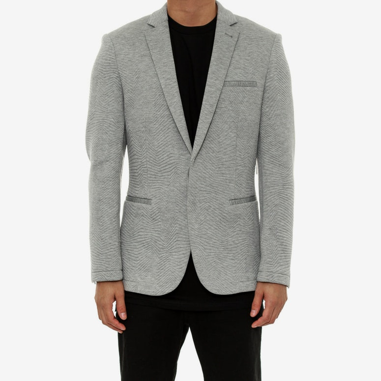 Quilted Neoprene Blazer Grey