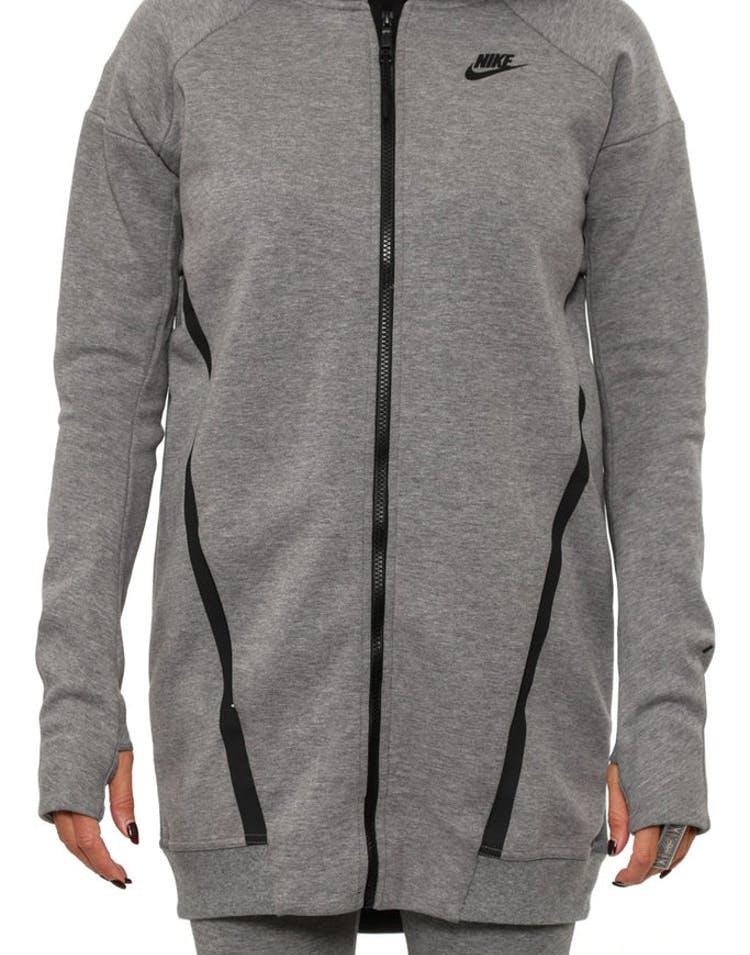 5a09b159ff40 Nike Womens Tech Fleece Mesh Jacket Grey black – Culture Kings