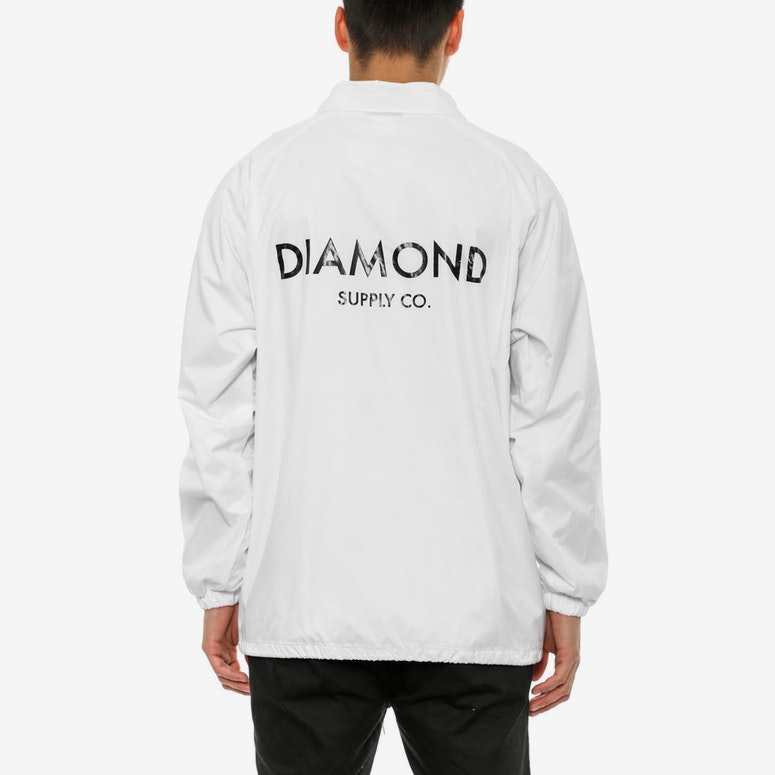 Diamond Classic Coach Jacket White