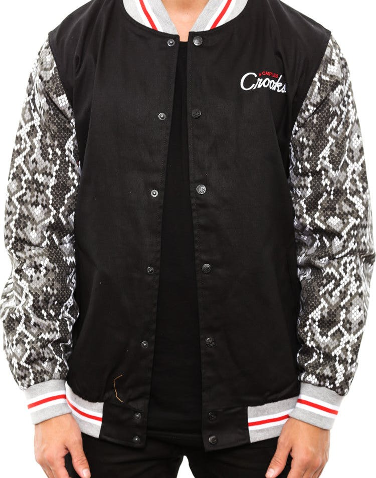 Graphic Stadium Jacket Black