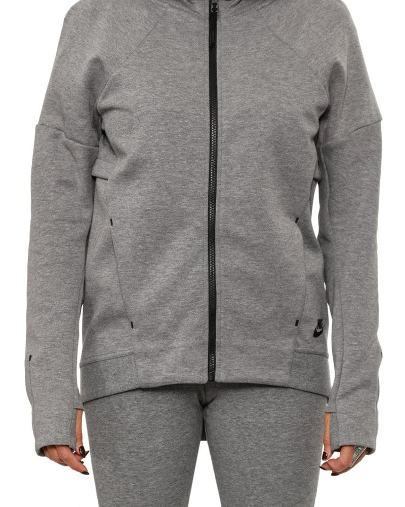 Women's Tech Fleece FZ Hood Grey/black