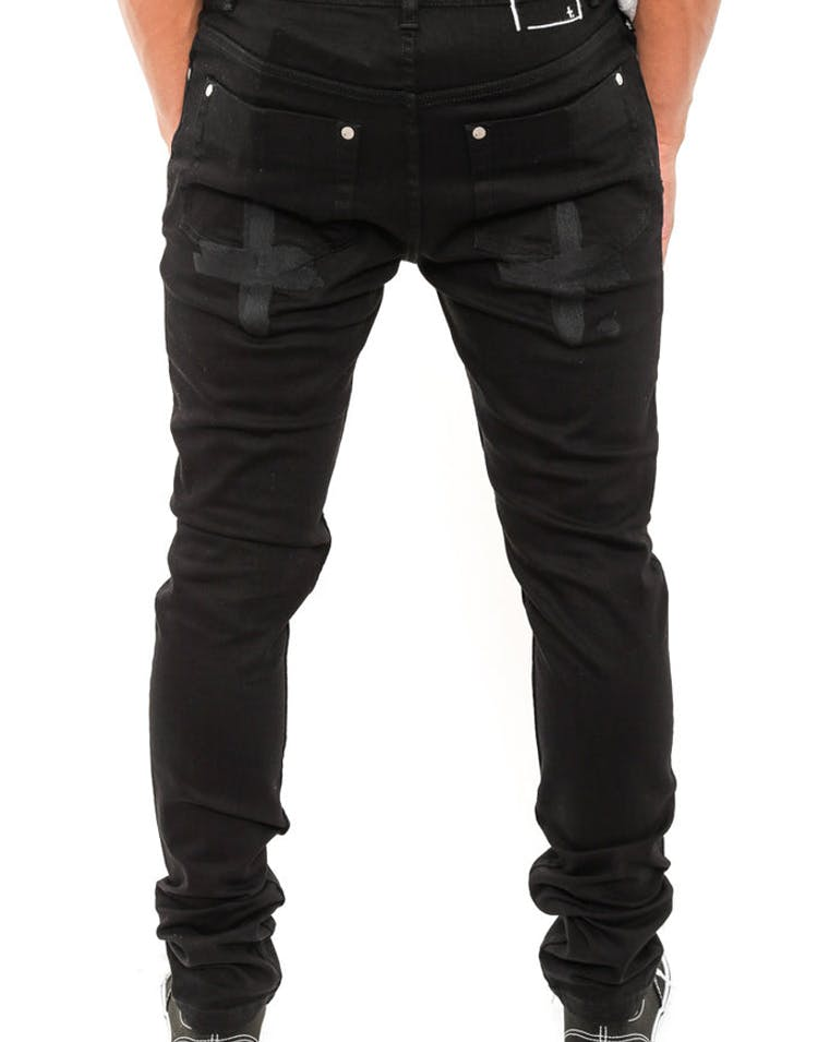 Rocco Jean Embroided Plus Black/black