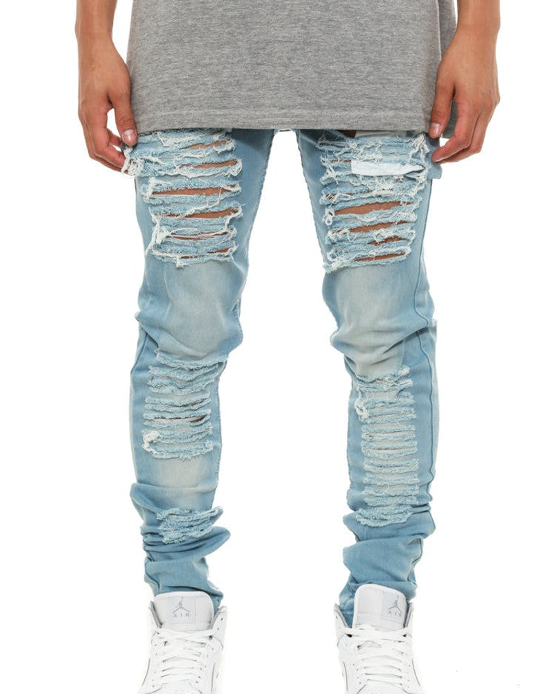Destroyed Jeans Blue