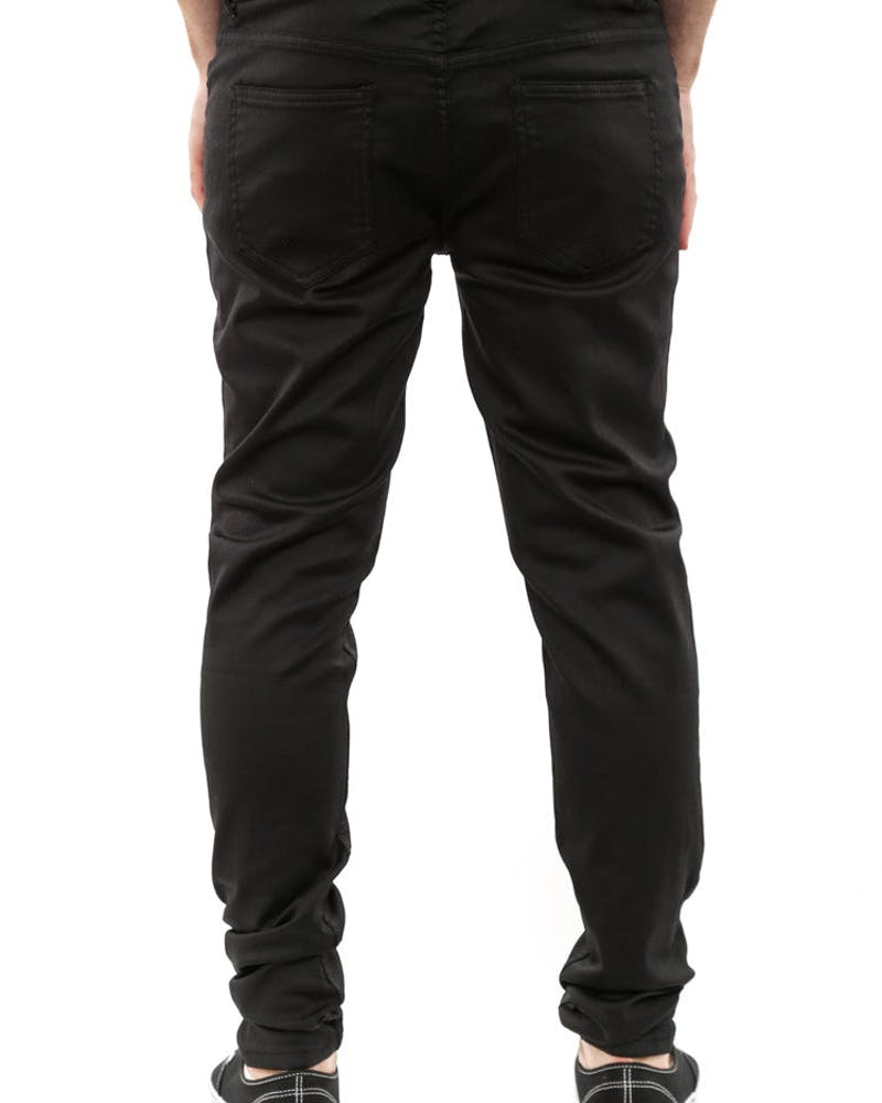 Ghost Waxed Jean Black