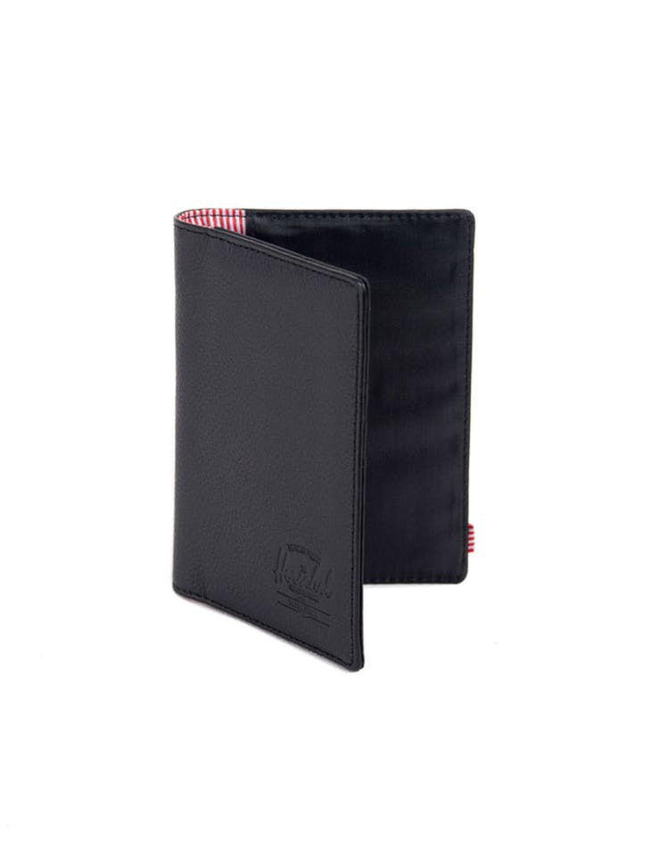 Raynor Leather Passport Holder Black Pebble
