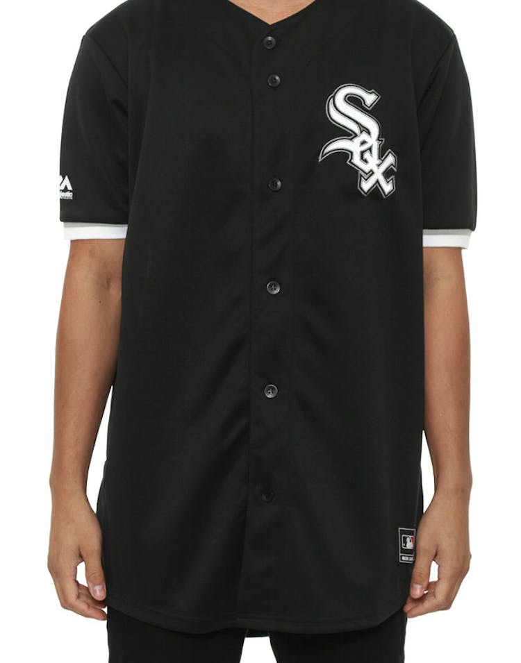 competitive price d0088 c4ed9 White Sox Replica Away Jersey Black