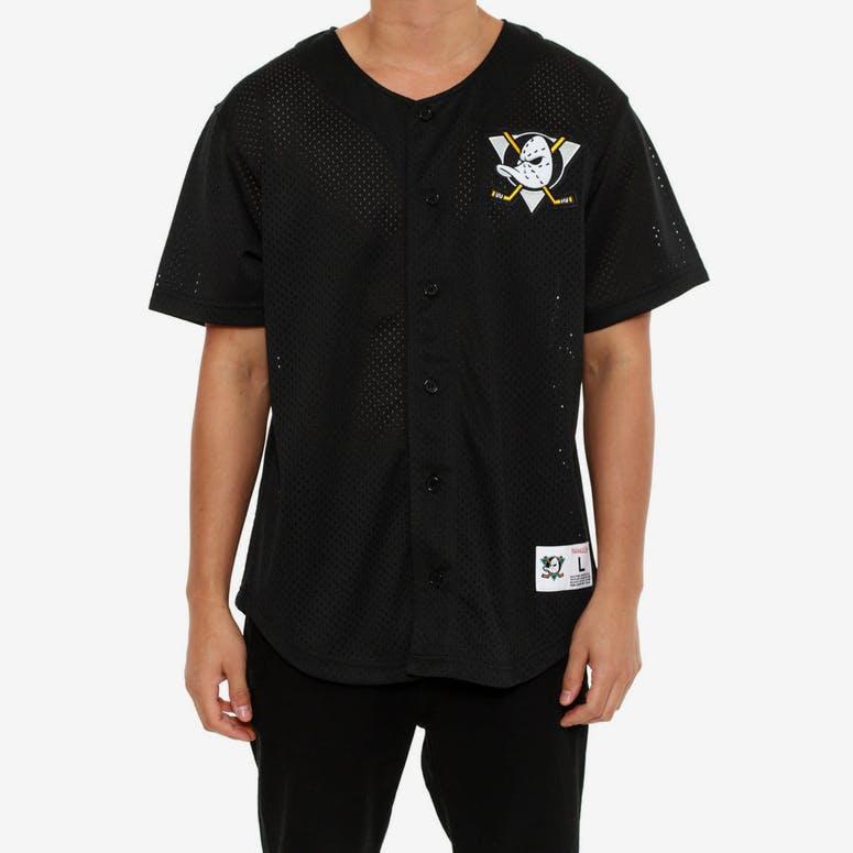Mitchell   Ness Ducks Mesh Button Jersey Black – Culture Kings 478647d5c