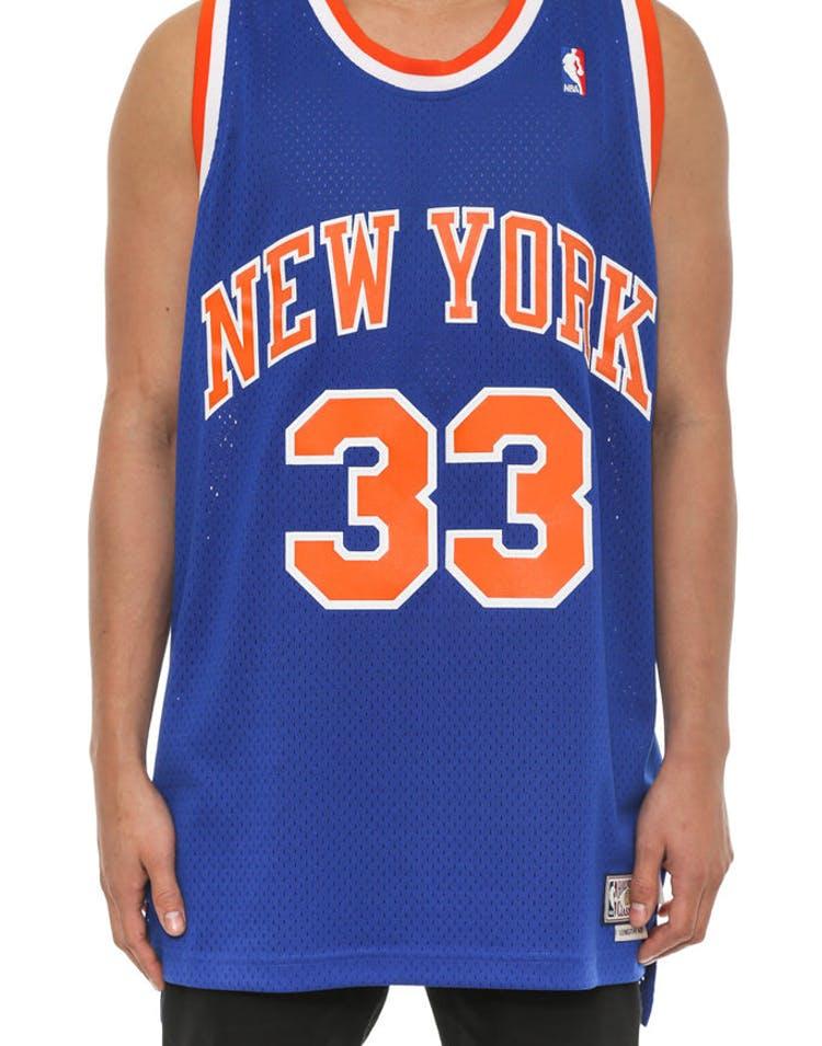 designer fashion 02179 df7bf New York Knicks 33 Hwc Jersey Blue
