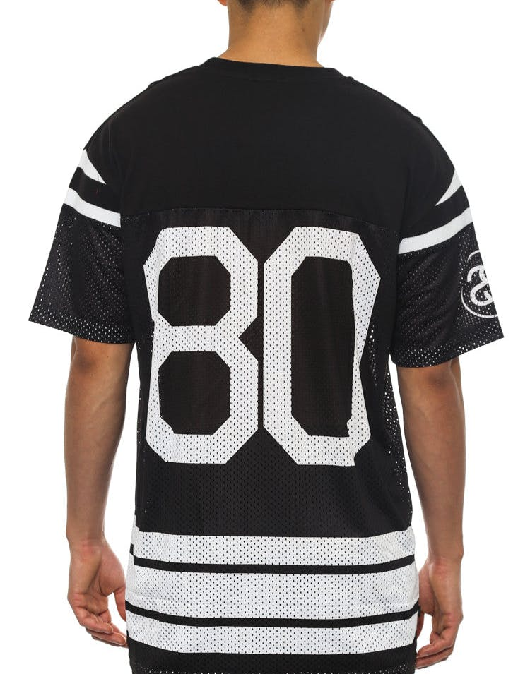 80 Mesh Grid Iron Tee Black