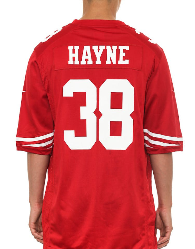 0ef80025263 Nike 49ers Game Jersey 38 Hayne Red white – Culture Kings