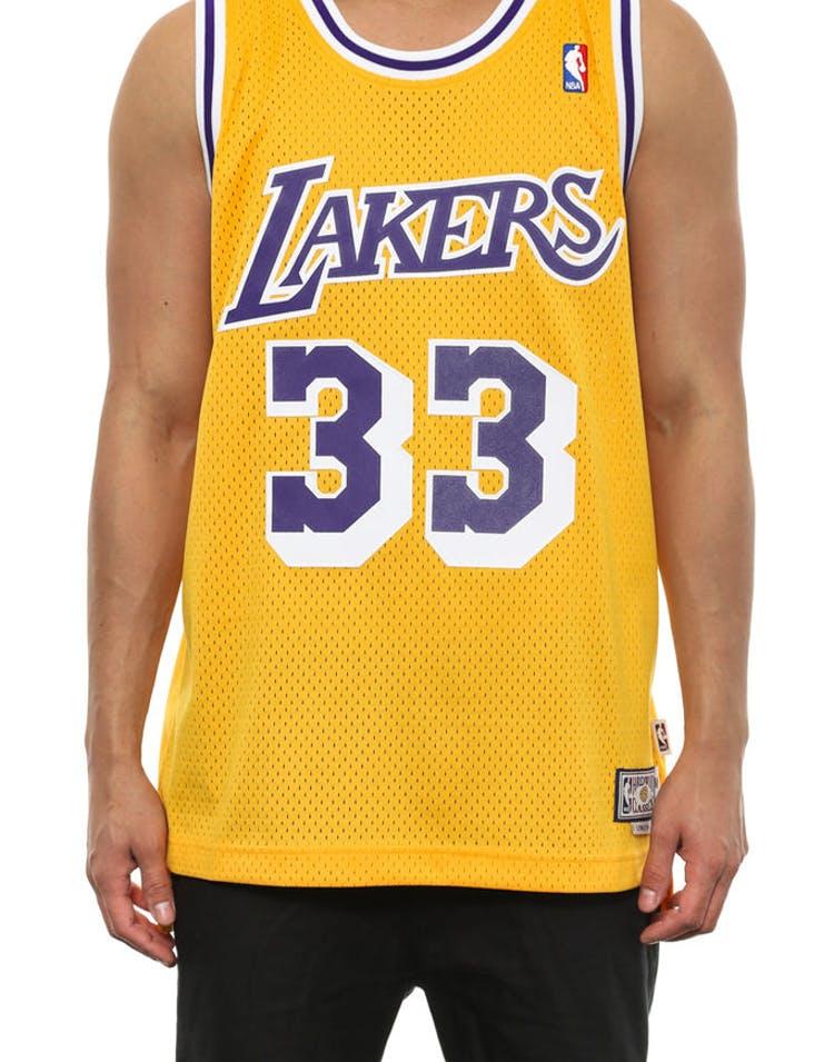 buy popular 71af5 48508 Lakers 33 Abdul-jabar Hwc Yellow