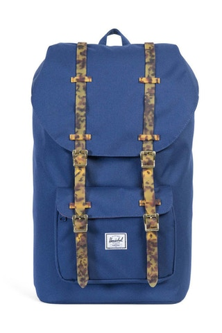 Little America Rubber Backpack Blue/tortoise