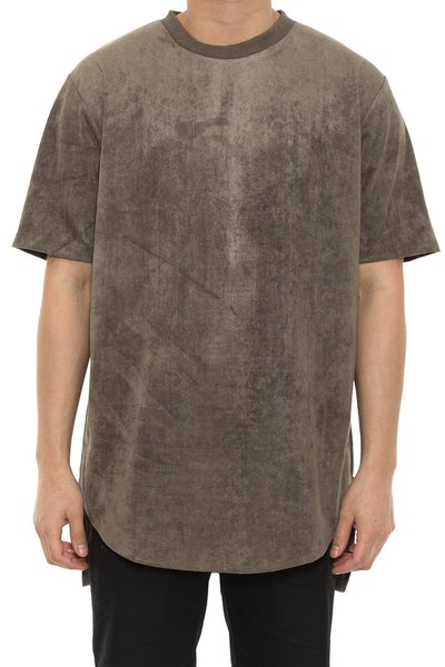 Jackson Suede Tee Army Green