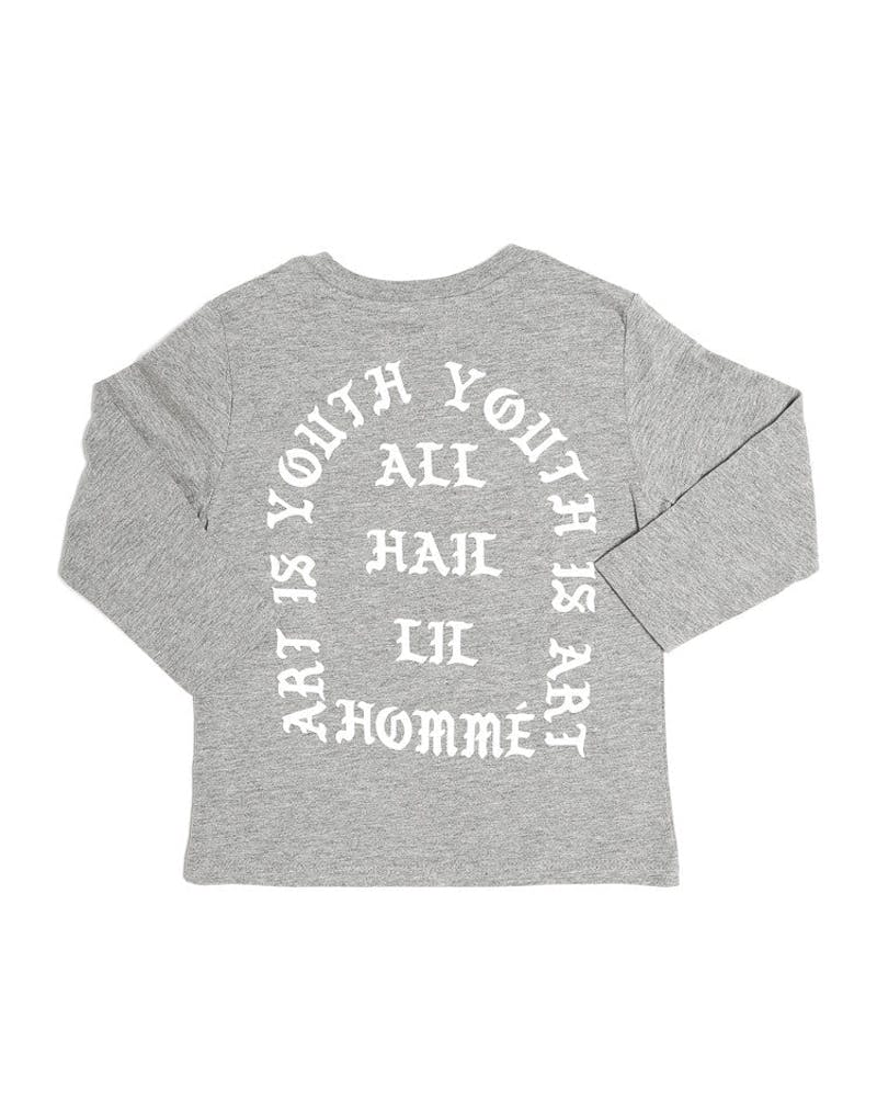 All Hail Long Sleeve Tee Grey