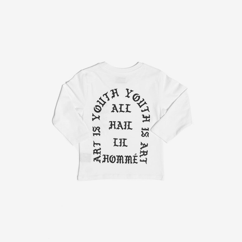 All Hail Long Sleeve Tee White