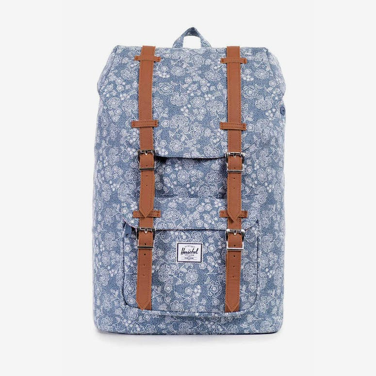 Herschel Bag CO Little America Mid-volume Blue Floral – Culture Kings 8549e034d56d9